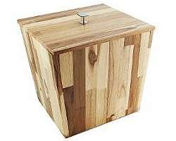 Lixeira de madeira para jardim
