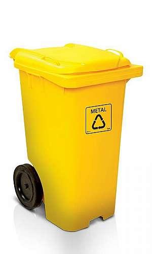 Carrinho Coletor de Lixo com Tampa