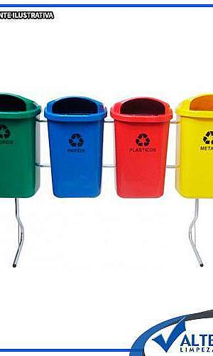Cestos de lixo para coleta seletiva
