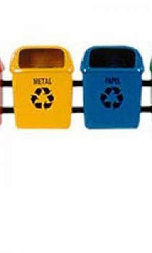 Coletores de lixo coleta seletiva