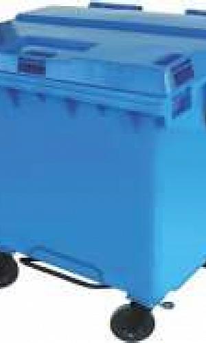 Contentor em polietileno para lixo