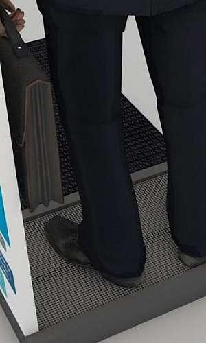 Desinfecção de calçados