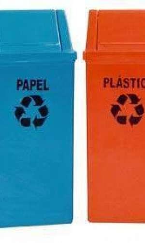 Lixeira para lixo reciclável