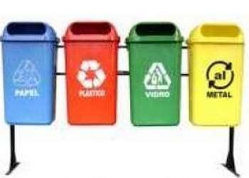 Lixeira para reciclagem em São Paulo