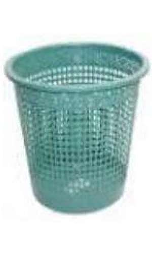 Lixeira plástica telada