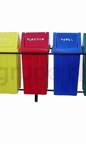 Lixeiras plásticas