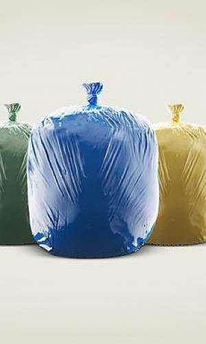 Sacos de lixo para coleta seletiva