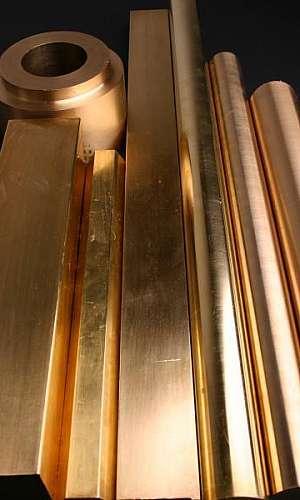 Tarugo bronze quadrado